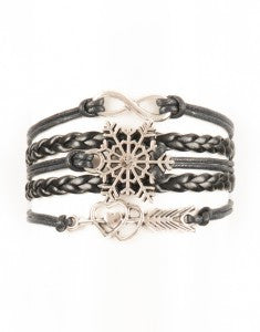 Infinity, Snowflake, Heart, Arrow, Bracelet, Modestly