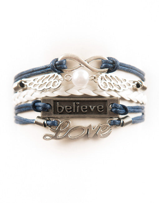 Infinity, Wings, Believe, Love, Bracelet, Modestly