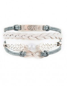 Infinity, Wings, Love, Bracelet, Modestly