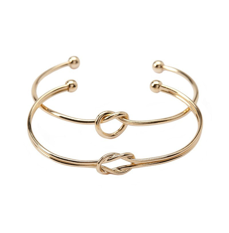 Knot Open Bangle - 2 Piece Set, Bangle, Modestly