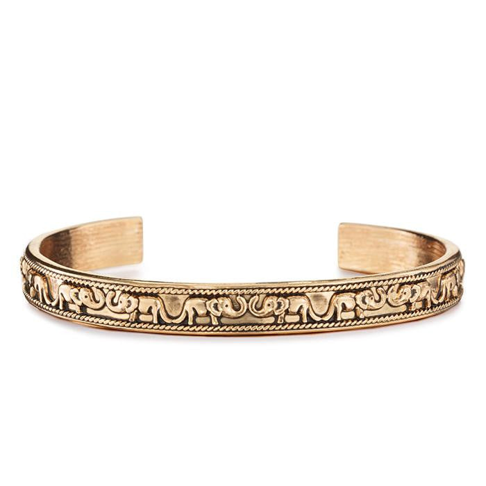 Boho Elephant Open Bangle, Bangle, Modestly