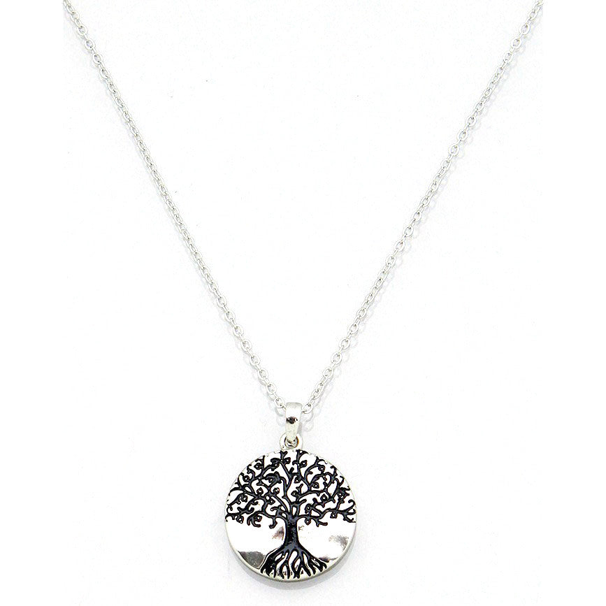 Tree of Life Round Pendant Necklace, Necklace, Modestly