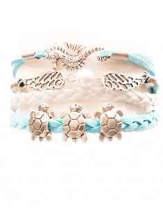 Seahorse, Wings, Turtles, Bracelet, Modestly