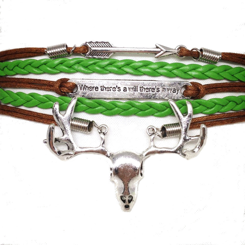 "Arrow, ""Will"" Saying, Deer Rack Modestly Bracelet, Bracelet, Modestly"