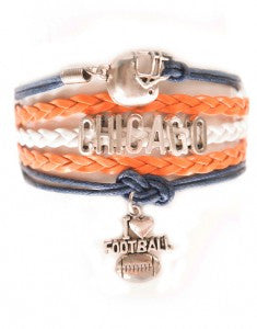 Chicago Football, Bracelet, Modestly
