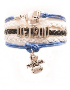 Detroit Football, Bracelet, Modestly
