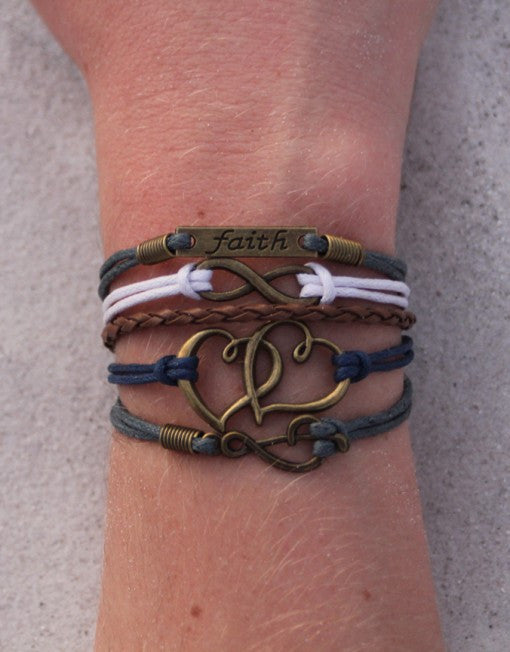 Faith, Infinity, Hearts, Music Note, Bracelet, Modestly