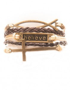 Fish, Believe, Cross, Bracelet, Modestly