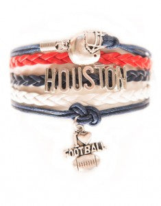 Houston Football, Bracelet, Modestly