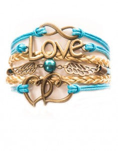 Infinity, Love, Wings, Hearts, Bracelet, Modestly