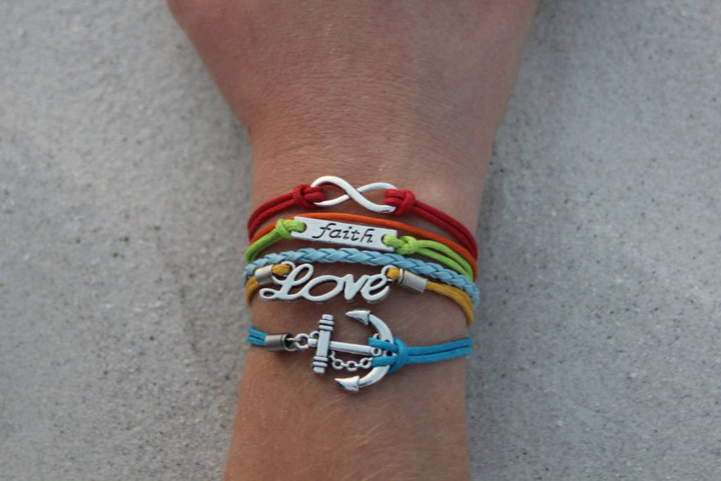 Infinity, Faith, Love, Anchor, Bracelet, Modestly