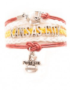 Kansas City Football, Bracelet, Modestly