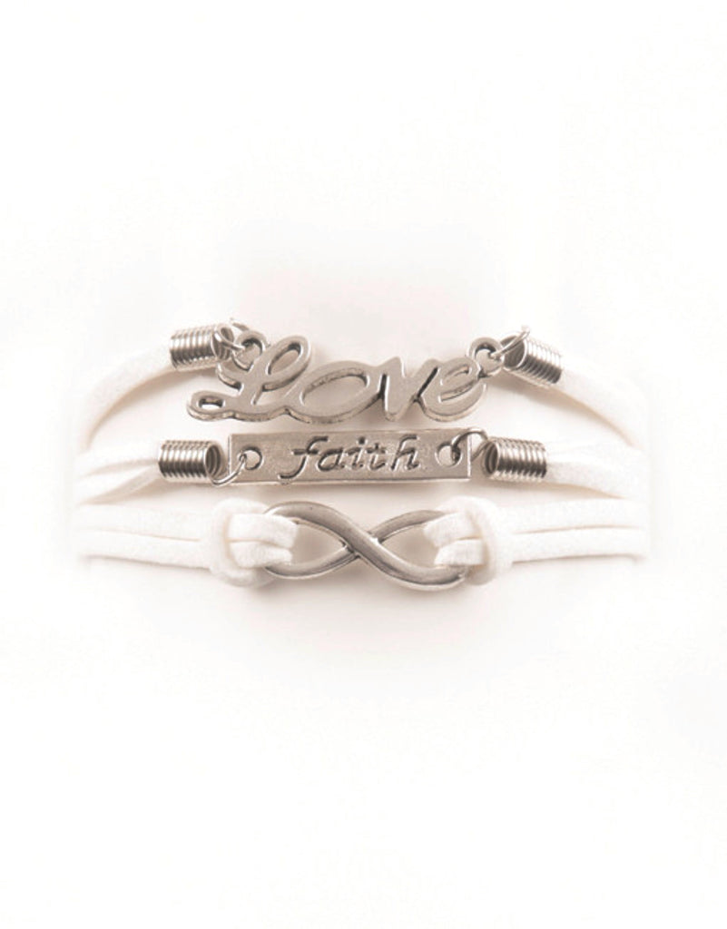 Love, Faith, Infinity, Bracelet, Modestly