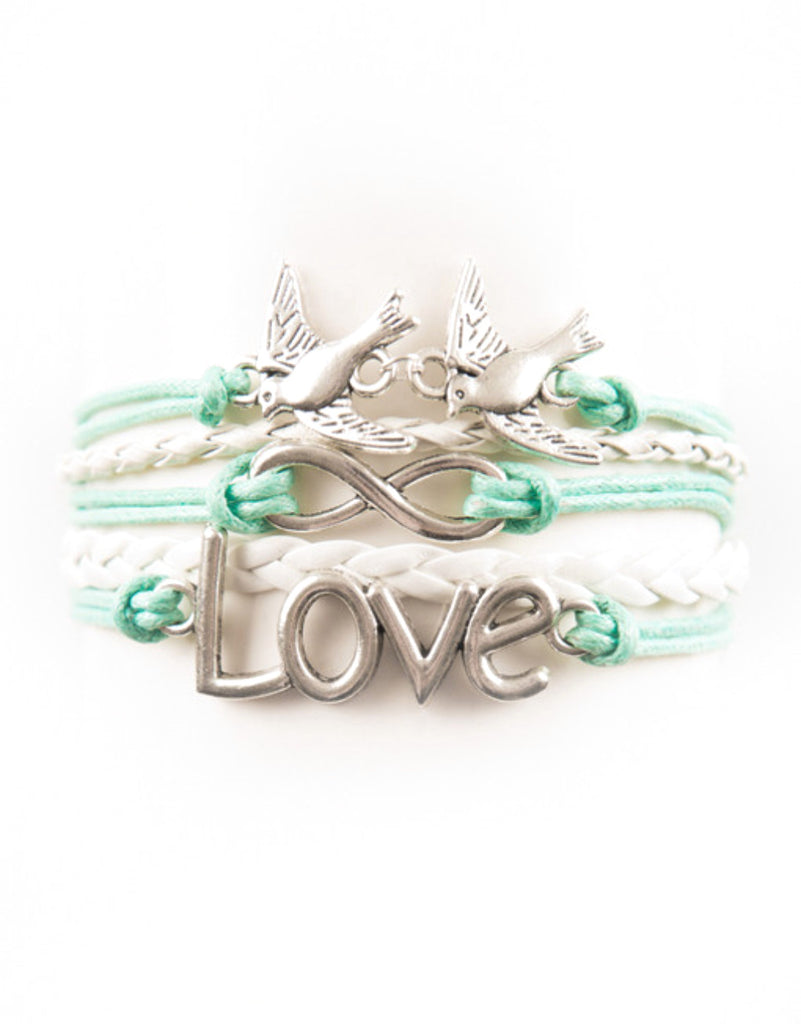 Love, Infinity, Birds, Bracelet, Modestly