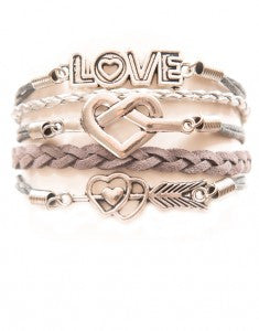 Love, Knotted Heart, Arrow Heart, Bracelet, Modestly