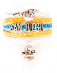 San Diego Football, Bracelet, Modestly