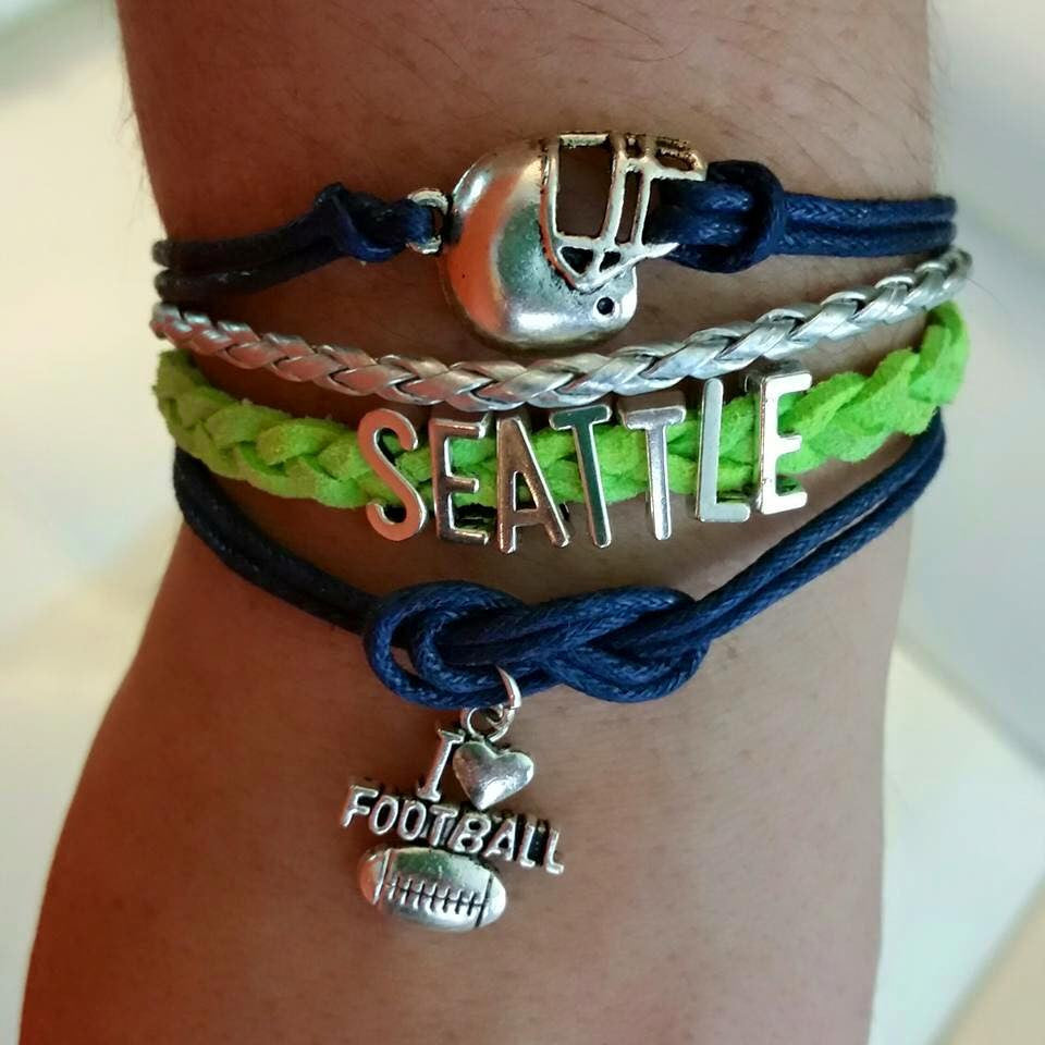 Seattle Football, Bracelet, Modestly