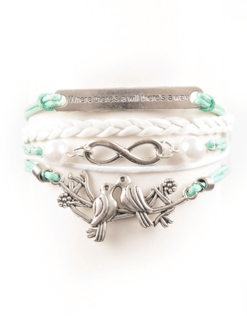 """Will"" Saying, Infinity, Birds, Bracelet, Modestly"