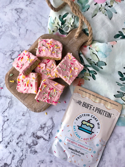 Fit-Fetti Cake Bars
