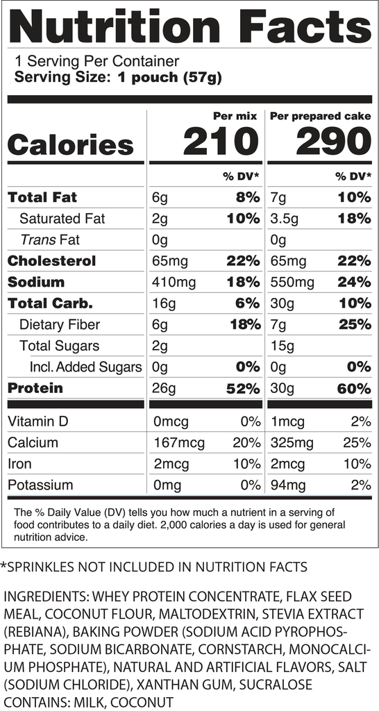 Single Pack Fit-Fetti Protein Cake Mix