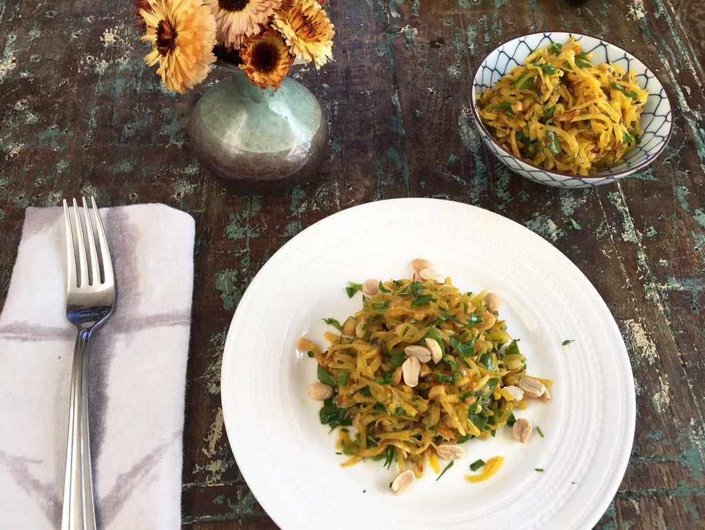 Golden Beet and Green Onion Slaw with Roasted Peanuts