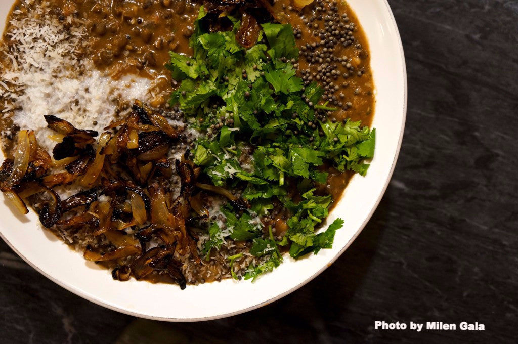 Urad Dal (Black Lentils) with Coconut and Cilantro