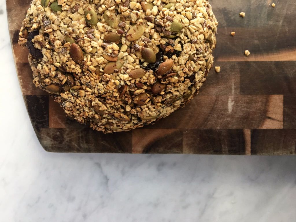Sprouted Oat and Seed Bread with Cumin and Tahini