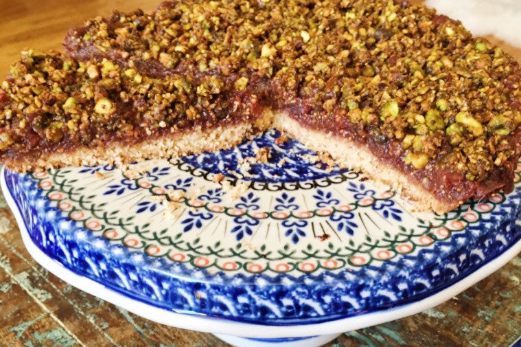 Grain Free Fall Fruit and Nut Praline Tart