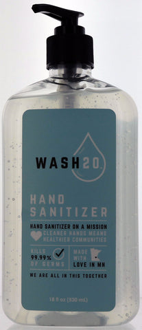 Wash20 Hand Sanitizer. 18 fl oz.