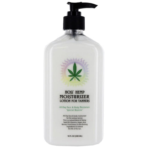 Hoss' Hemp Moisturizer For Tanners 18oz
