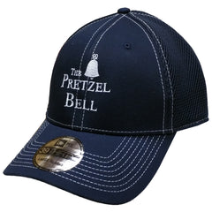 The Pretzel Bell Meshback Fitted Hat - Deep navy/white