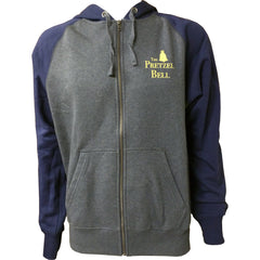 The Pretzel Bell Fleece Hoodie - Graphite Heather/true navy