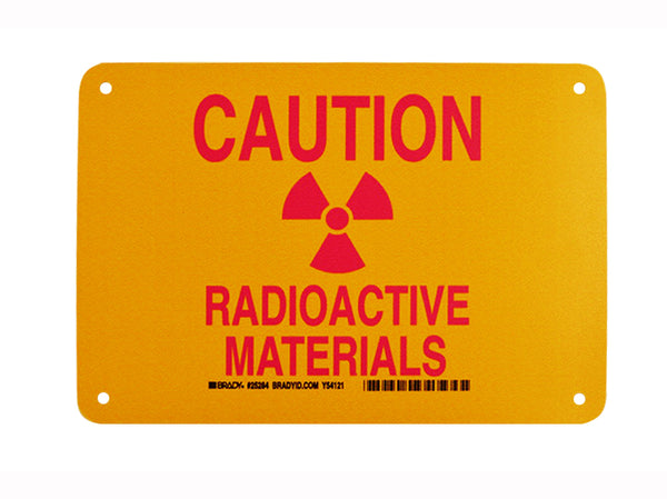 Radioactive Materials Caution Sign