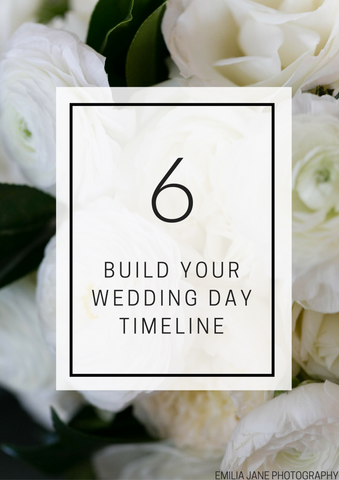 Build Your Wedding Day Timeline - Individual Lesson
