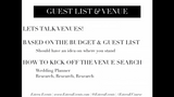 Guest List and Venue - Individual Lesson