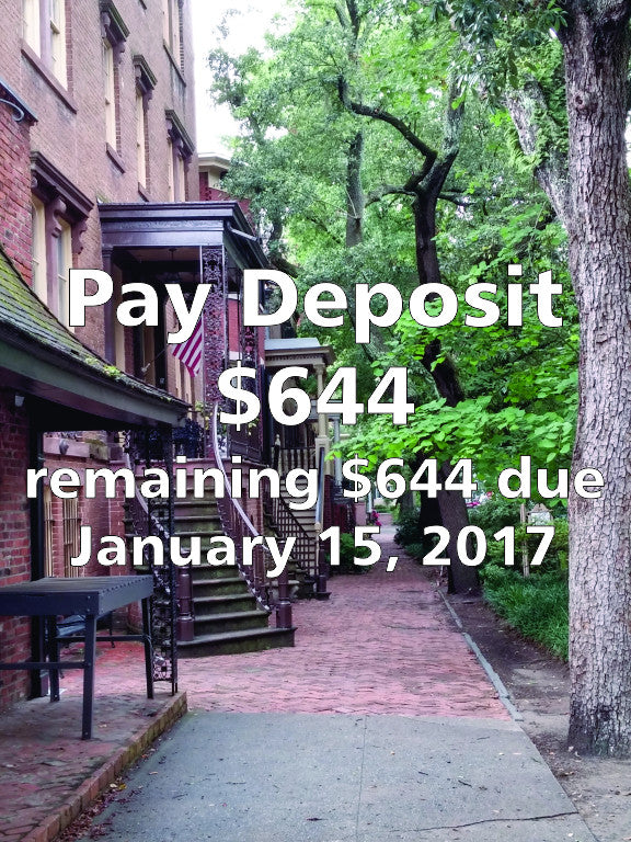 Georgia On My Mind - 2017 Savannah Conference DEPOSIT - $644.00