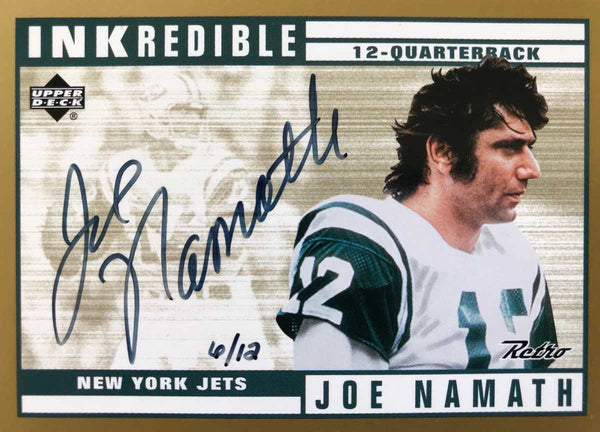 1999 Upper Deck INKredible Retro Autograph Joe Namath #6/12