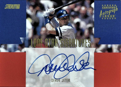 2000 Topps Certified Autograph Issue Lone Star Signatures Derek Jeter