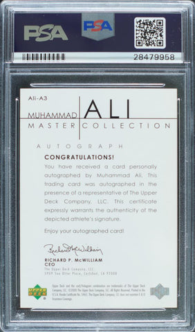 2000 Upper Deck Master Collection Autograph Muhammad Ali #48/50 (PSA Mint 9)
