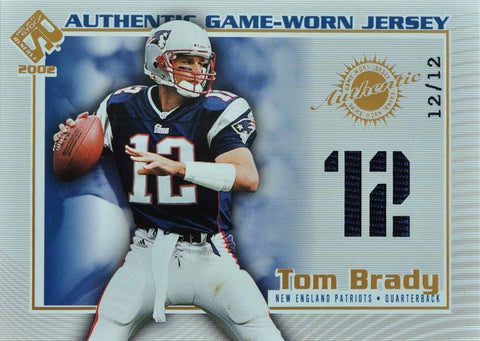 2002 Pacific Authentic Game-Worn Jersey Tom Brady #12/12
