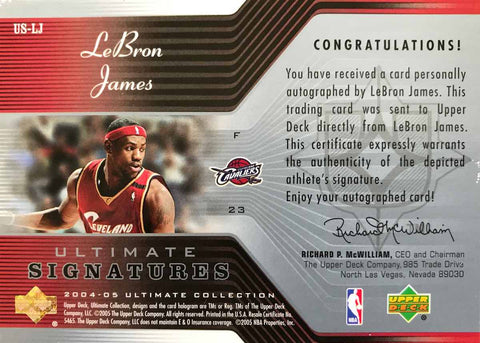 2004-05 Upper Deck Ultimate Collection Autograph LeBron James #16/23