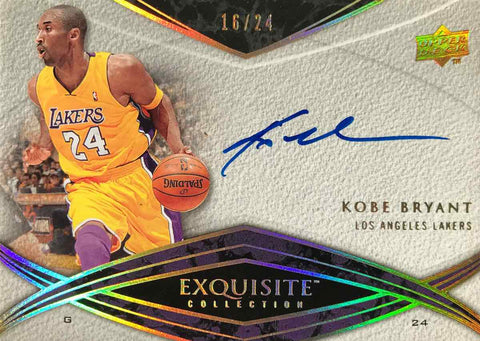 2008-09 Upper Deck Exquisite Collection Autograph Kobe Bryant #16/24