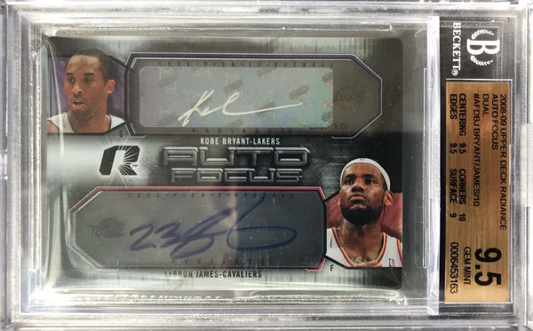 2008-09 Upper Deck Radiance Auto-Focus Dual-Autograph Kobe Bryant and LeBron James