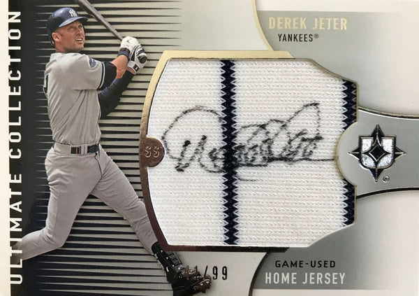 2008 Ultimate Collection Game-Used Home Jersey Autograph Derek Jeter #41/99