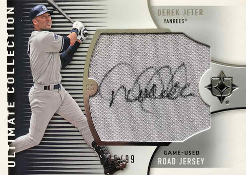 2008 Ultimate Collection UJ-DJ Game-Used Road Jersey Autograph Derek Jeter #45/99