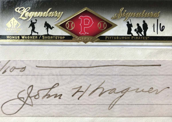 2008 Upper Deck SP Legendary Cuts Signatures Autograph Honus Wagner #1/6