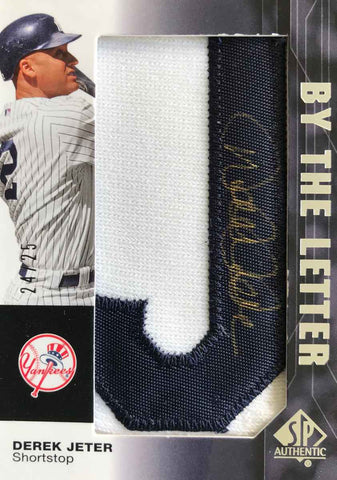 2008 Upper Deck SP Authentic By The Letter Autograph Patch Derek Jeter #24/25