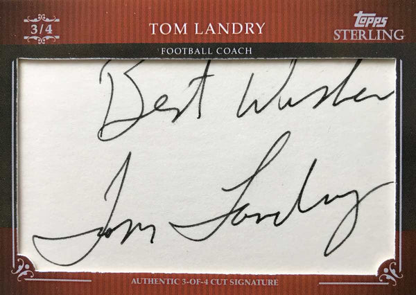 2009 TOPPS Sterling 3 of 4 Cut Signature Tom Landry