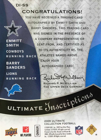 2009 Upper Deck Ultimate Inscriptions Autograph Emmitt Smith #1/5