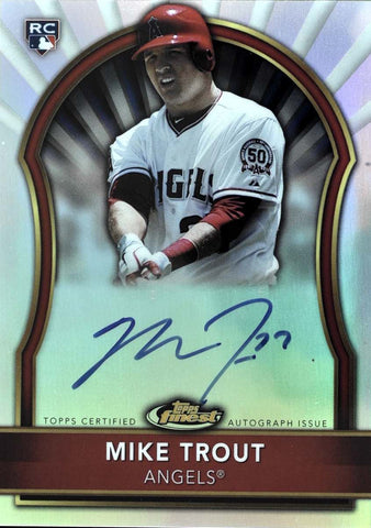 2011 Topps Finest Certified Autograph Issue Mike Trout #244/499
